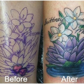 Lotus Over Hearts Cover Up