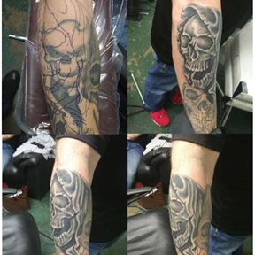 Skull Cover Up Collage